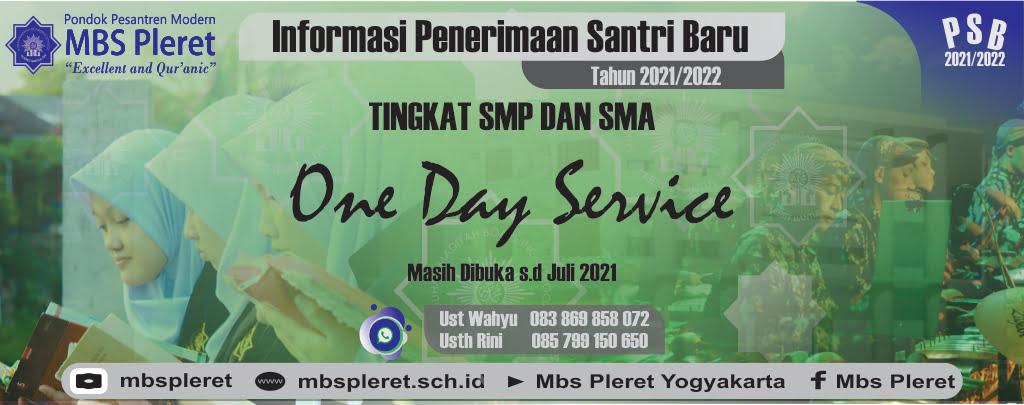one day service sd Juli 2021